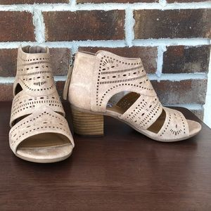 Not Rated Buckle laser cut ankle boot NEW